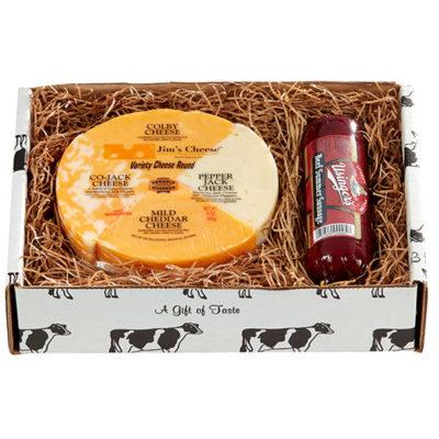 wisconsin cheese & sausage box,gift box,wisconsin cheese & sausage gift baskets